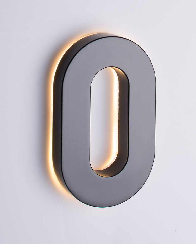 6 backlit led house numbers house numbers taymor canada Led house numbers