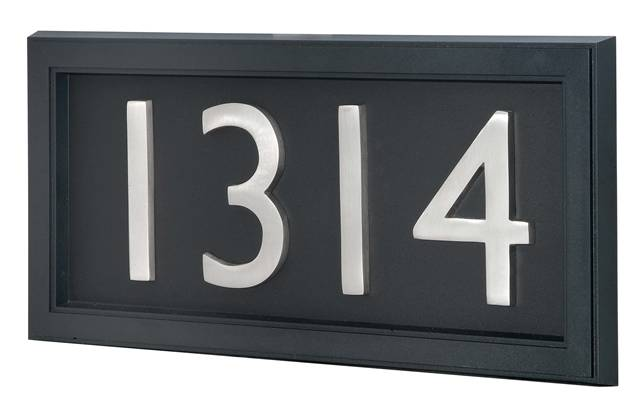 Modern house number signs canada house modern for Modern house numbers canada