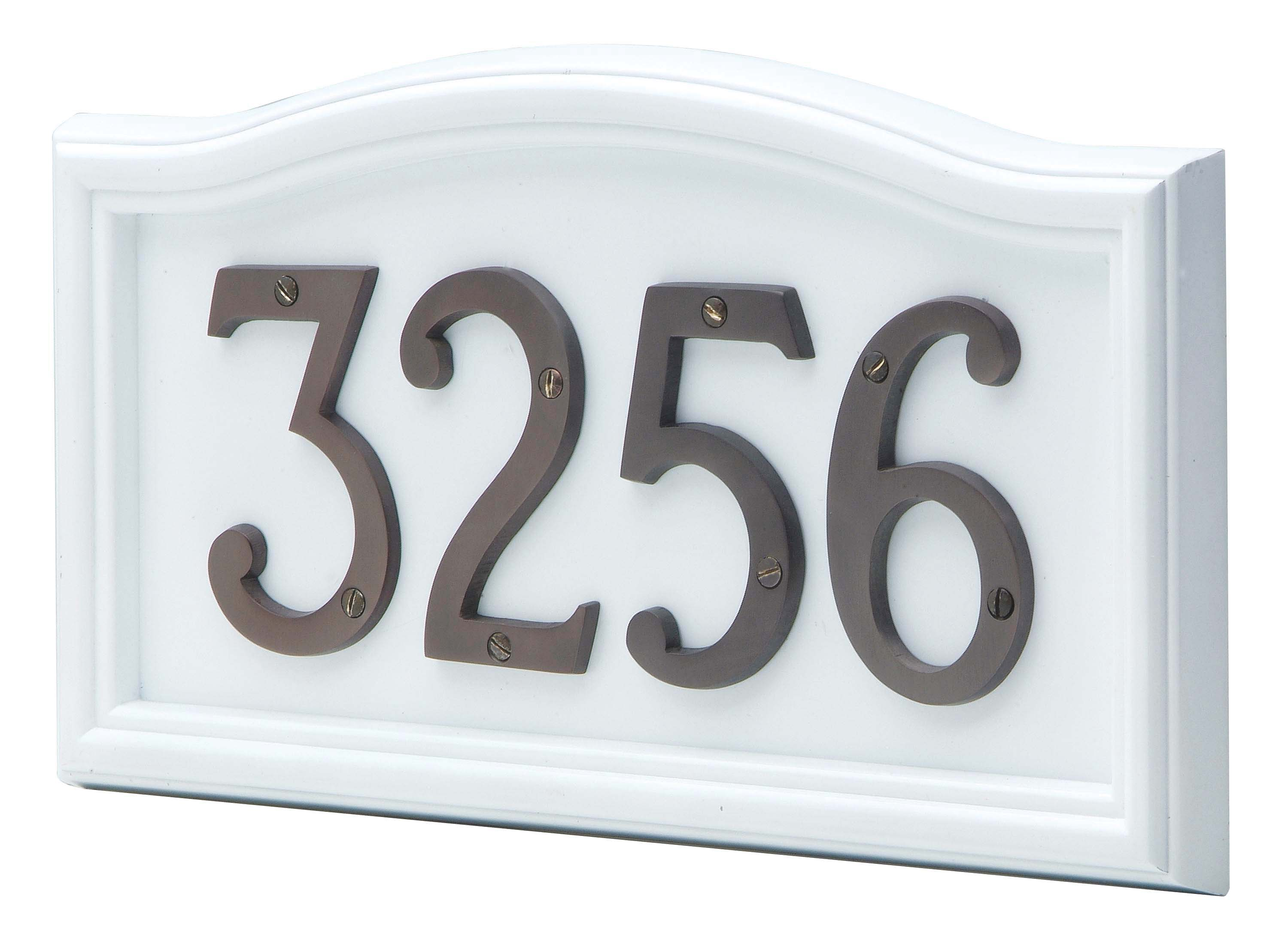 Large house numbers curved house number plaque taymor for Modern house numbers canada