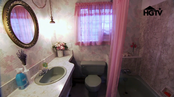 Pink Bathroom Before