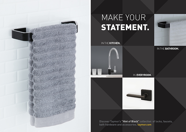Hint of Black Bathware and Hardware by Taymor